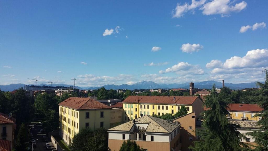 Spettacolare vista da uno dei balconi dell'appartamento