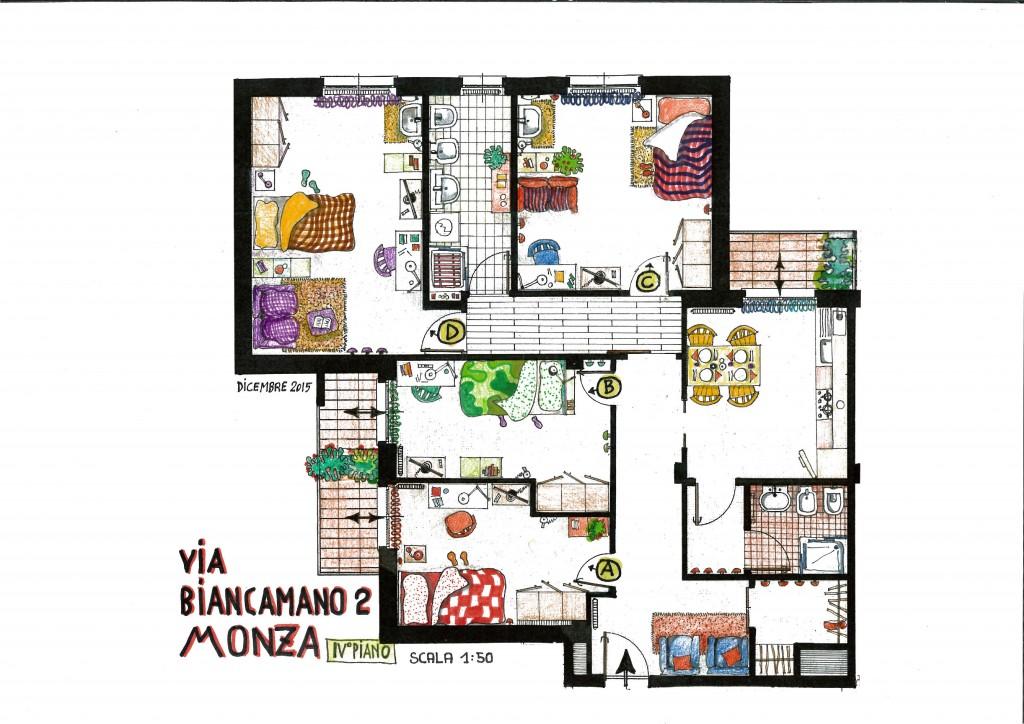 appartamento StanzaMonza via Biancamano
