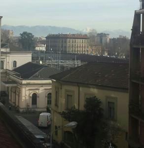 Foto da balcone appartamento in via Arosio con vista montagne a Stazione
