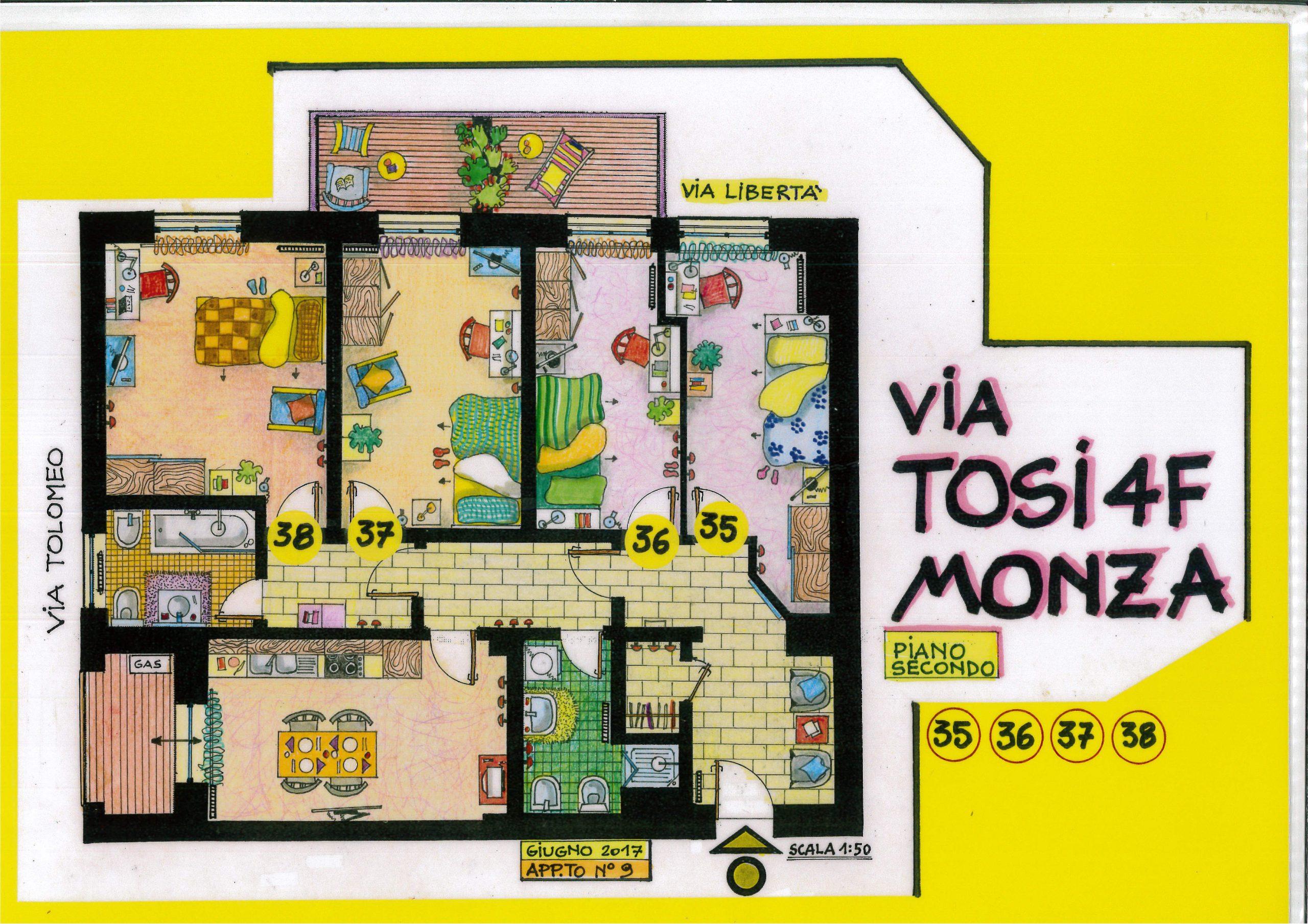 Via Tosi-Stanze 35-38