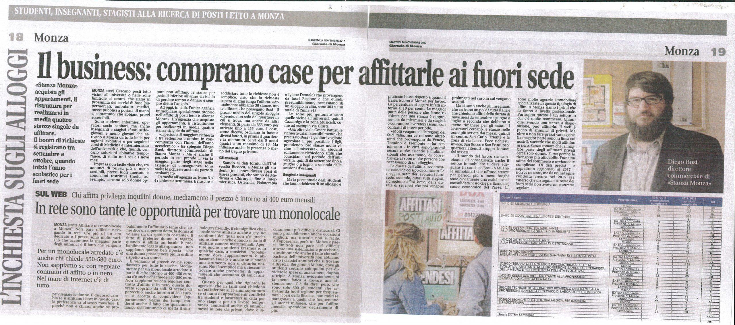 Articolo Giornale di Monza 29-11-17