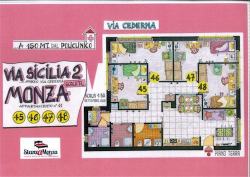 Via Sicilia – 4 stanze singole 45-48 UNA LIBERA DAL 10 LUGLIO