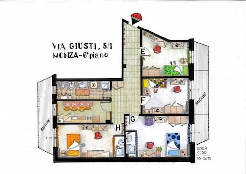 Via Giusti – VI Piano Stanze 5-8