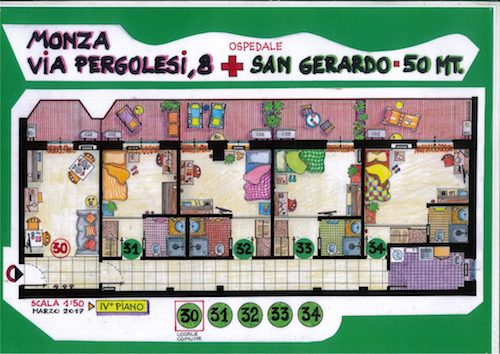 Via Pergolesi 8 Stanze DIAMOND 31-34 (NON DISPONIBILI)