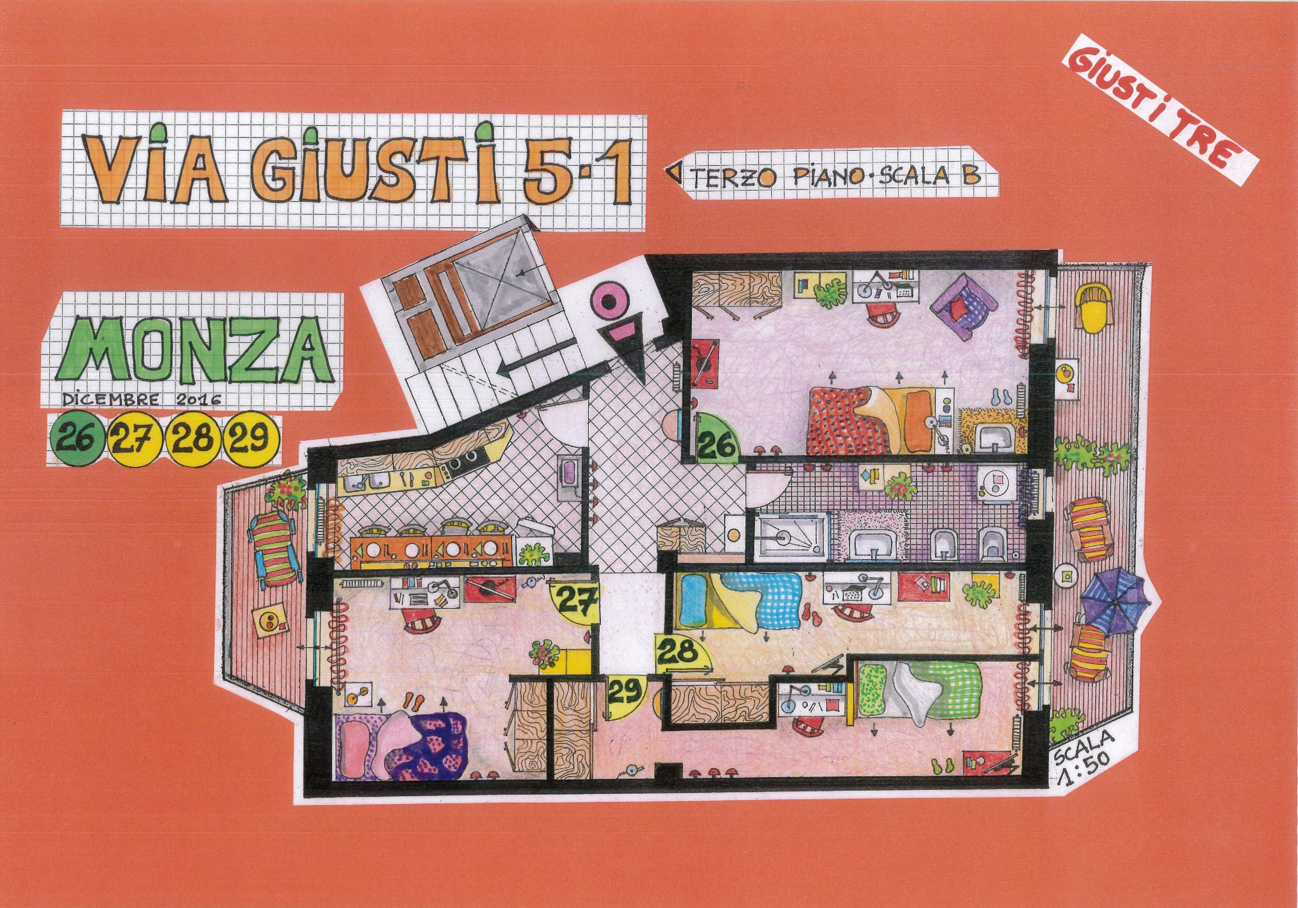 Via Giusti  – III Piano Stanze 26-29